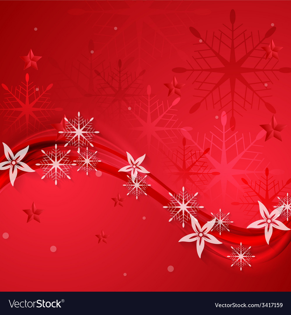 Abstract red wavy christmas background vector | Price: 1 Credit (USD $1)