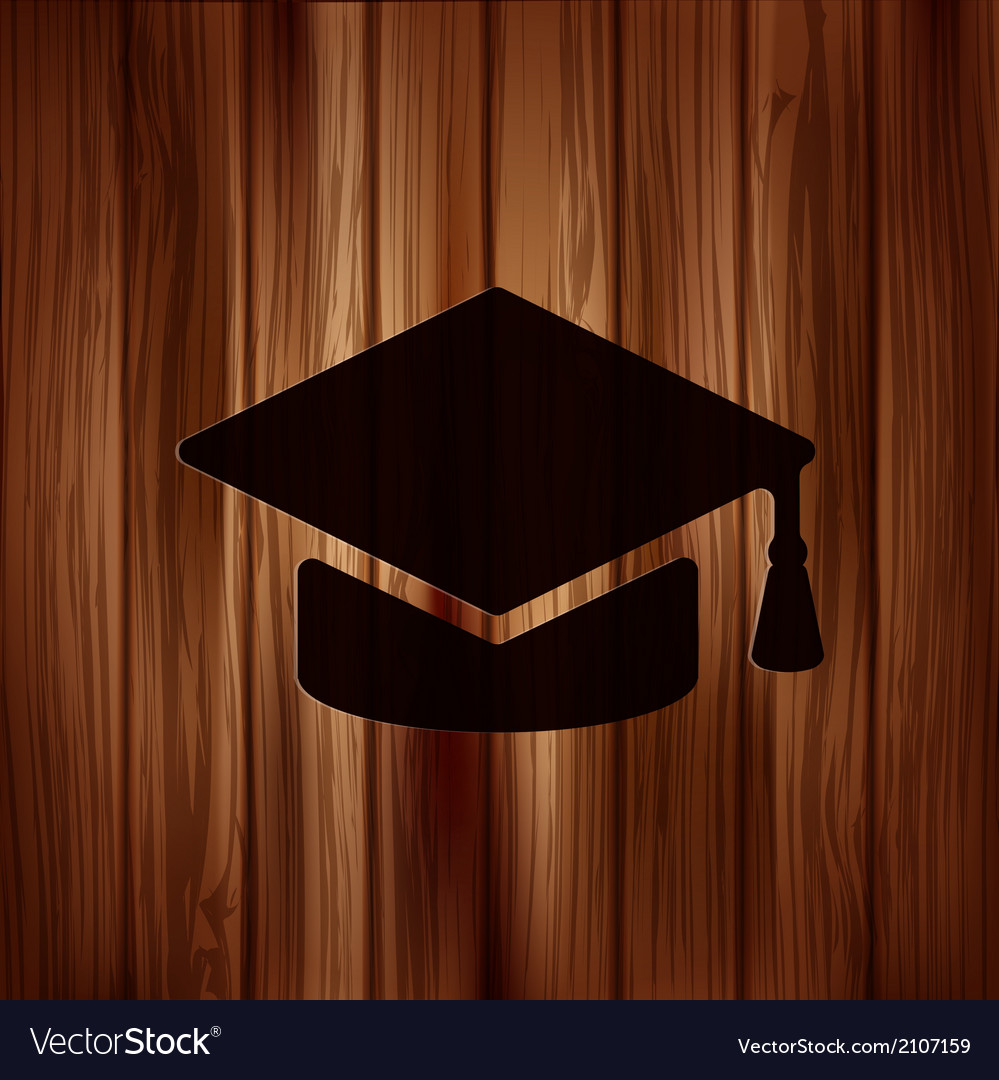 Academic cap icon vector | Price: 1 Credit (USD $1)