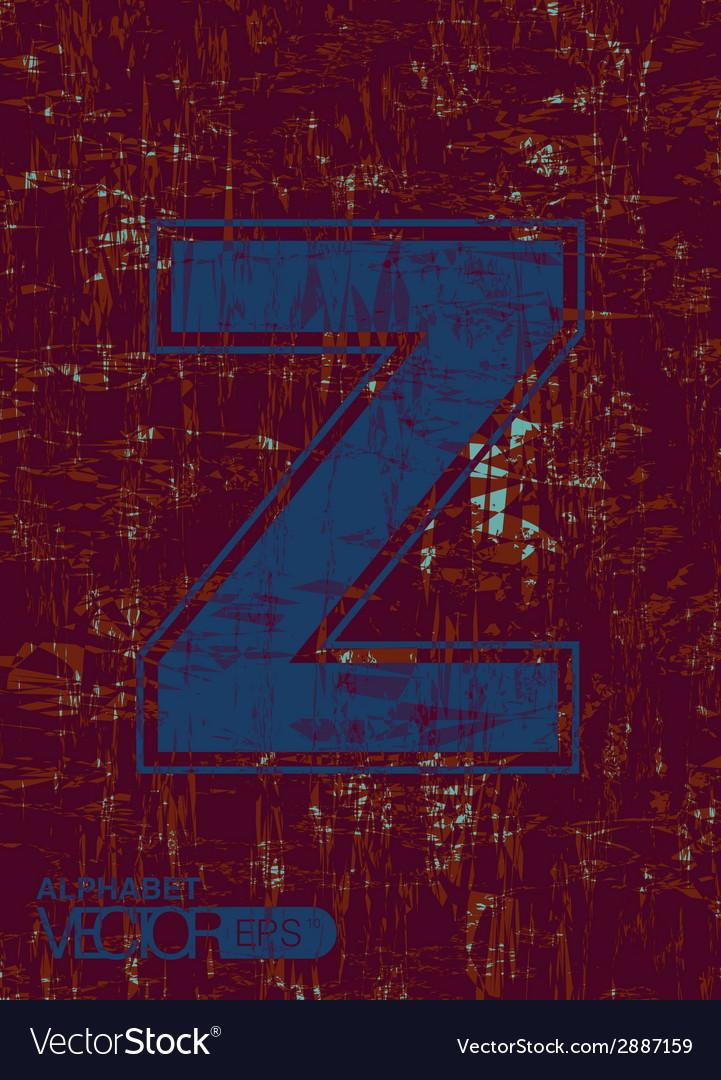 Alphabet z vector | Price: 1 Credit (USD $1)