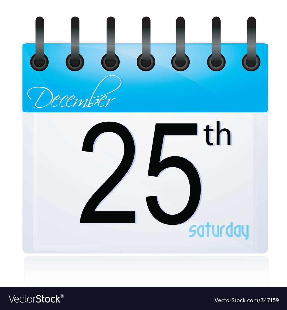 Calendar page for 25th december vector | Price: 1 Credit (USD $1)