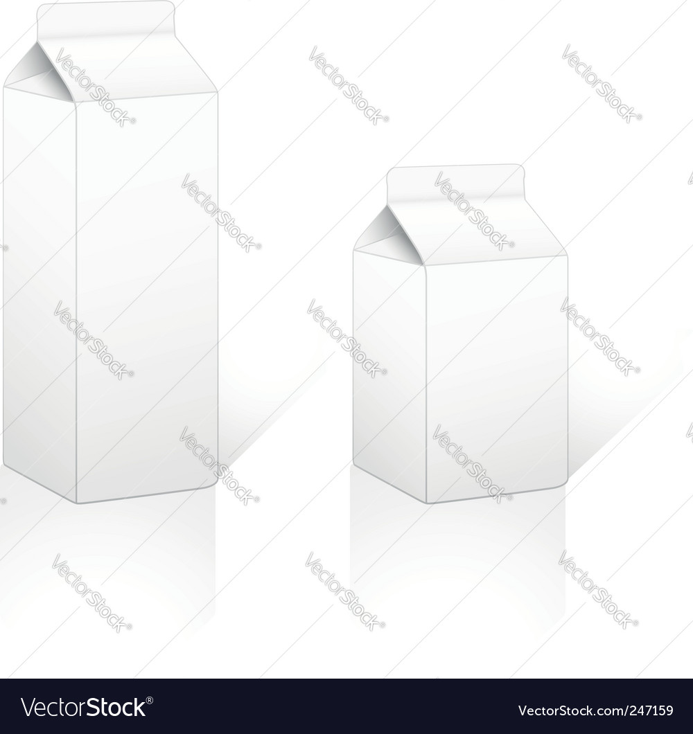 Cardboard carton pack 05 and 1lt vector | Price: 1 Credit (USD $1)