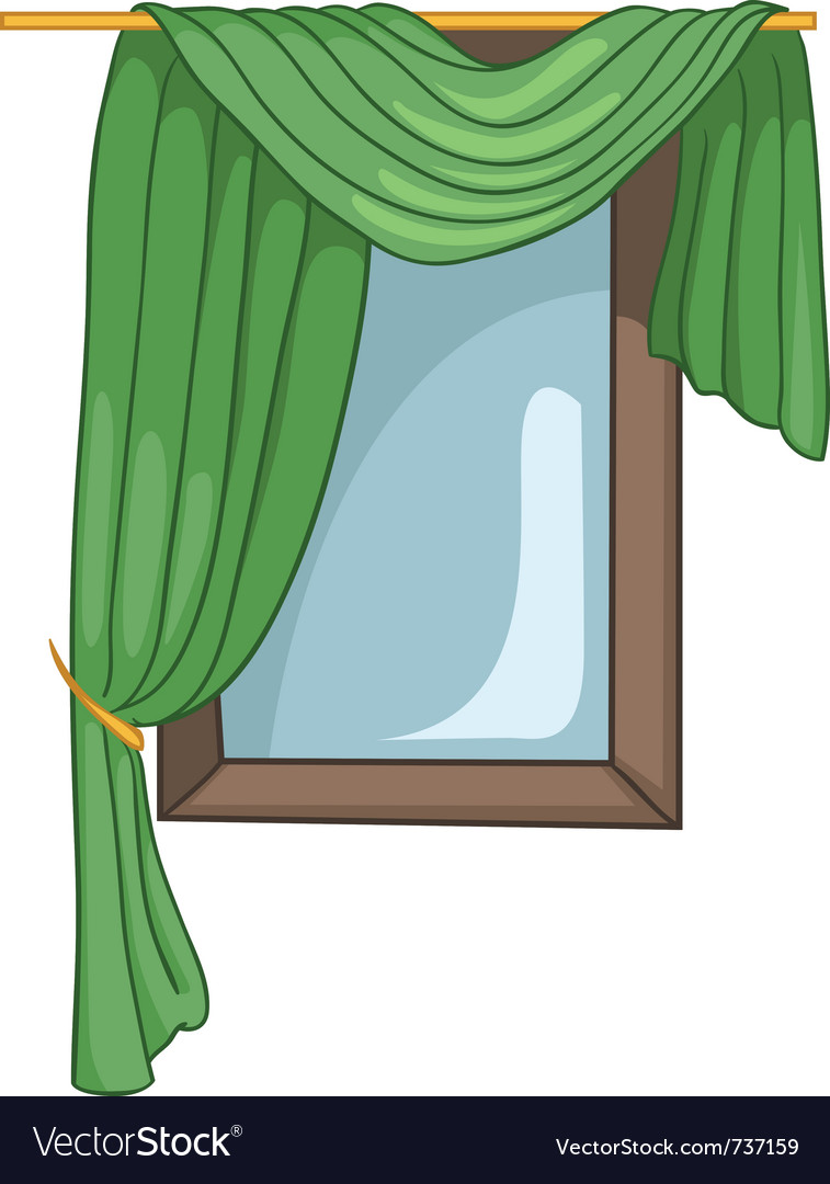 Cartoon home window vector | Price: 1 Credit (USD $1)