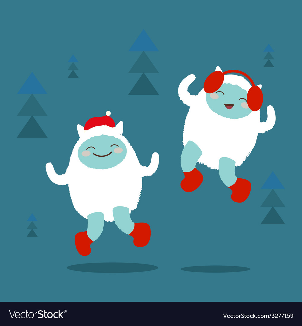 Cute yeti characters vector | Price: 1 Credit (USD $1)