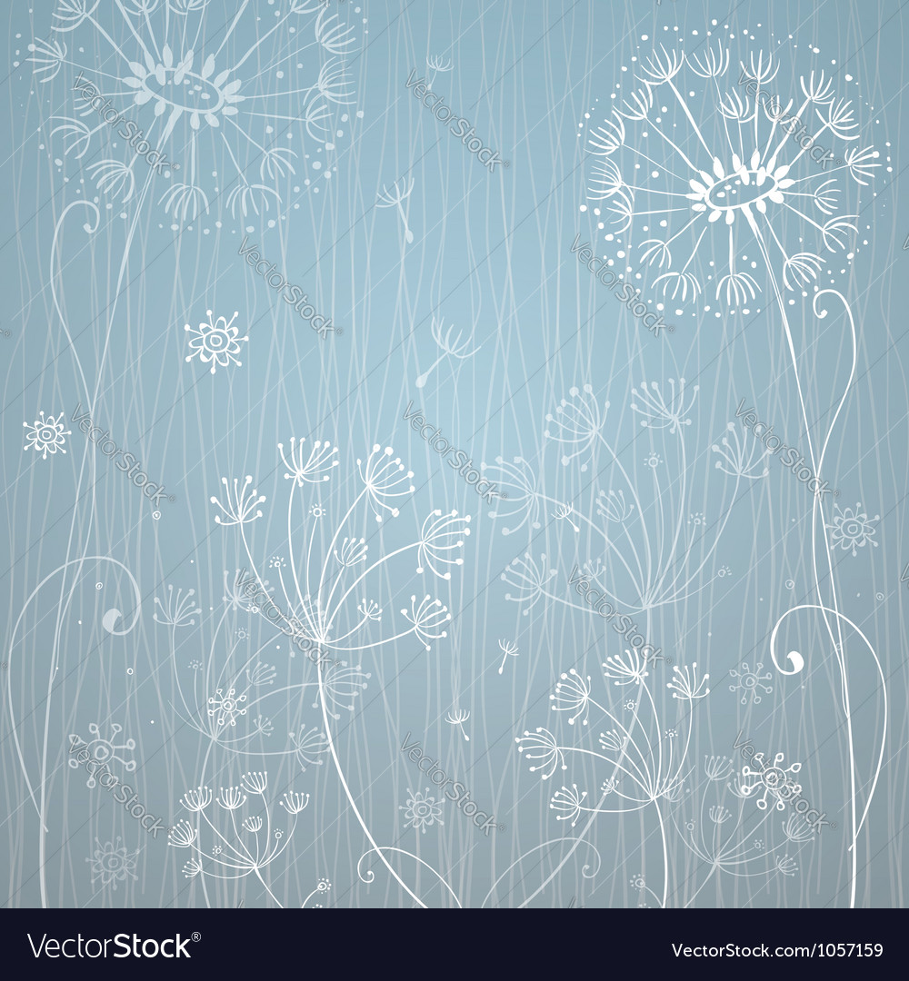 Deep blue dandelion flowers vector | Price: 1 Credit (USD $1)