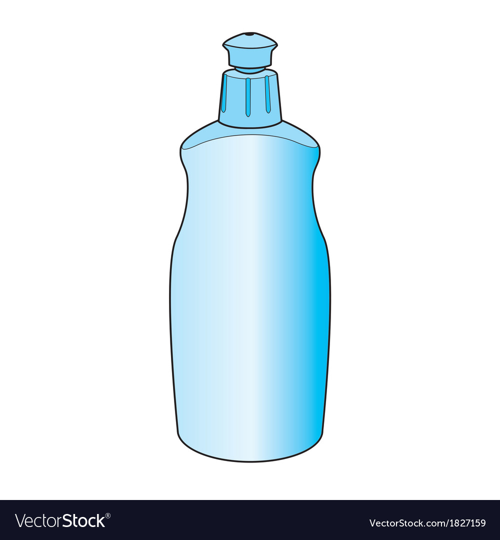 Dishwashing liquid bottle vector | Price: 1 Credit (USD $1)