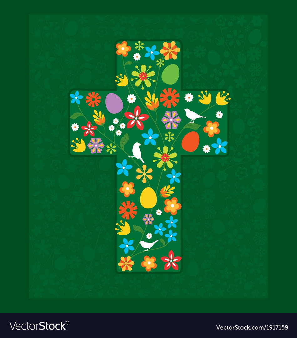 Easter cross vector | Price: 1 Credit (USD $1)