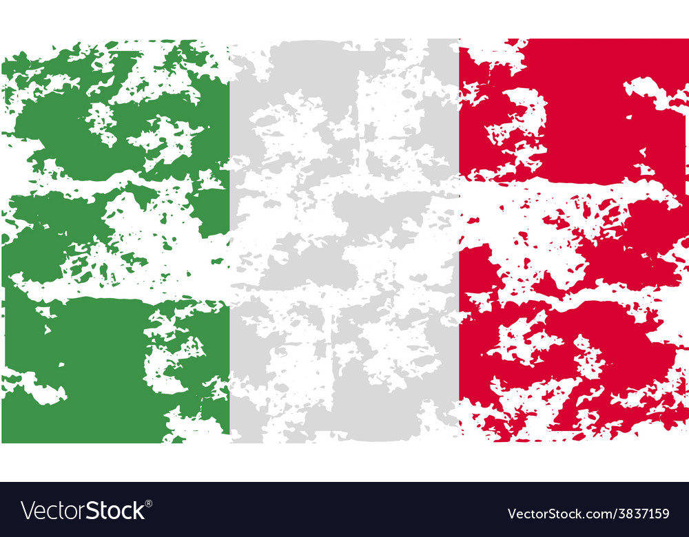 Flag of italy with old texture vector | Price: 1 Credit (USD $1)