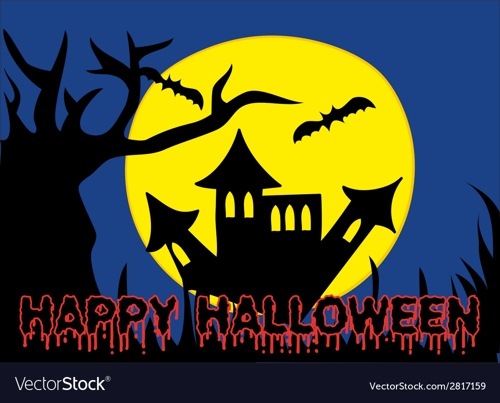 Halloween holiday castle vector | Price: 1 Credit (USD $1)