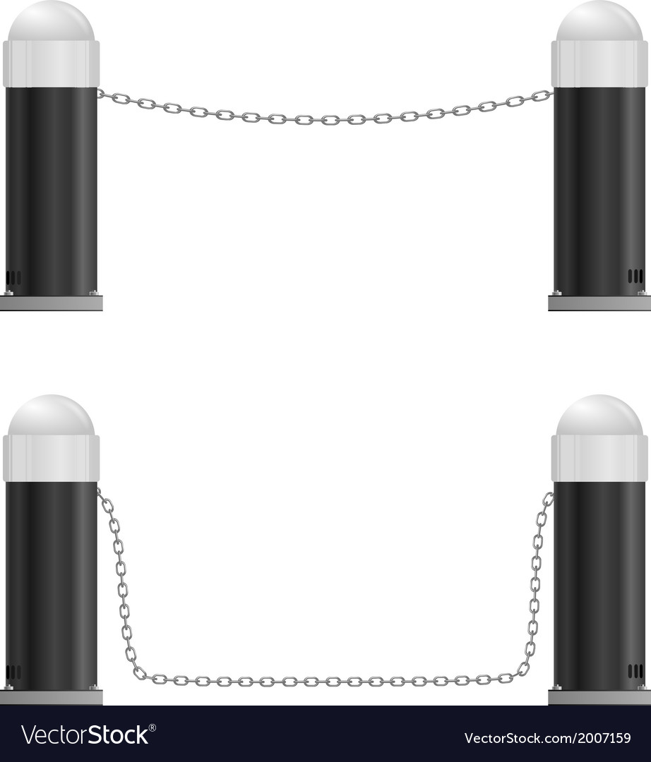 Mechanical barrier with chain vector | Price: 1 Credit (USD $1)