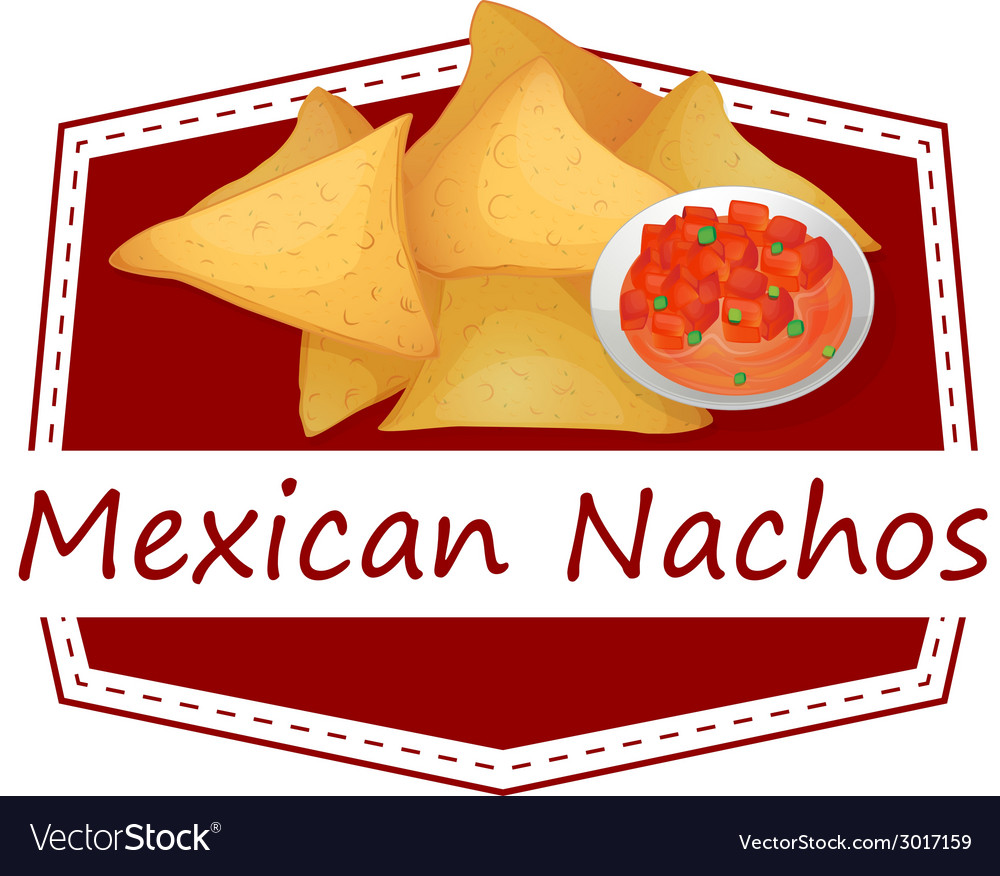 Mexican nachos vector | Price: 1 Credit (USD $1)