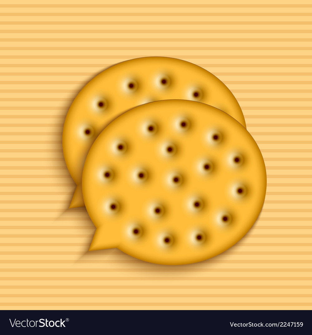 Modern cookie bubble speech vector | Price: 1 Credit (USD $1)