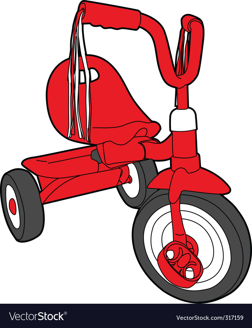 Red bicycle vector | Price: 1 Credit (USD $1)