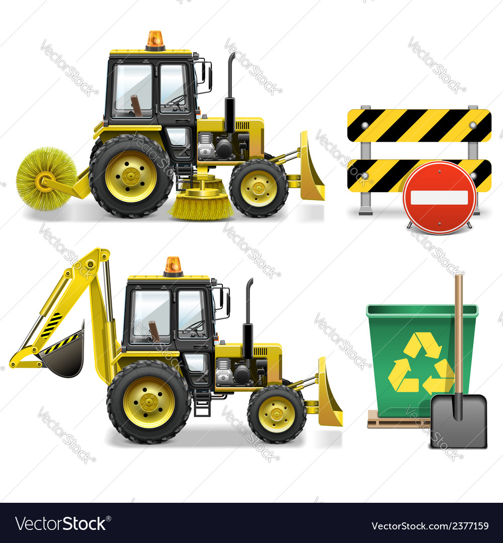 Street cleaning icons vector | Price: 1 Credit (USD $1)