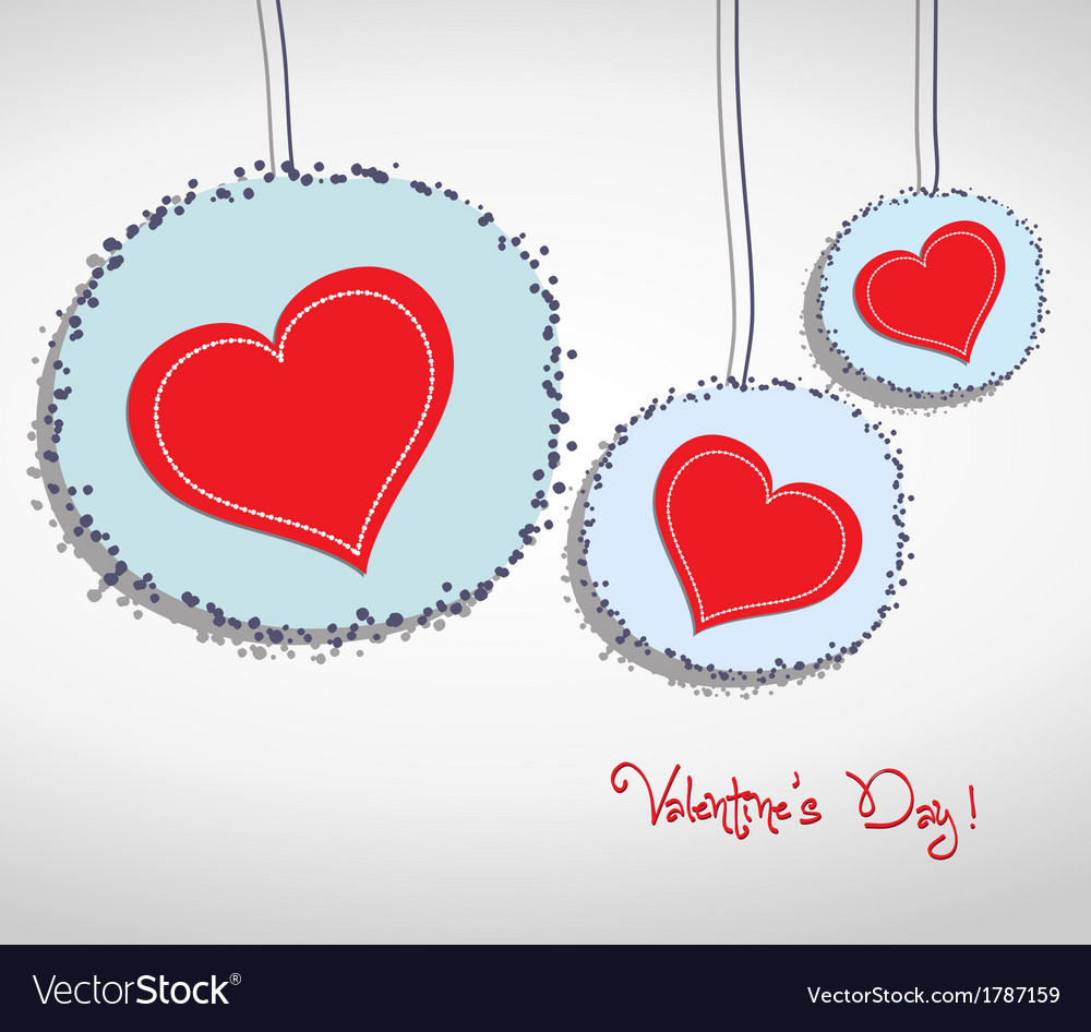 Valentine hang heart on wall vector | Price: 1 Credit (USD $1)