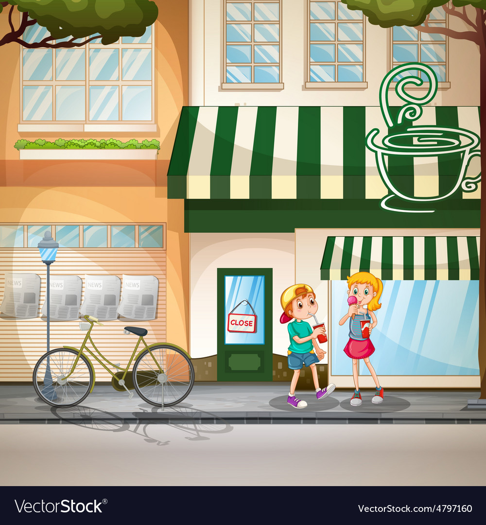 Children and shops vector   Price: 3 Credit (USD $3)