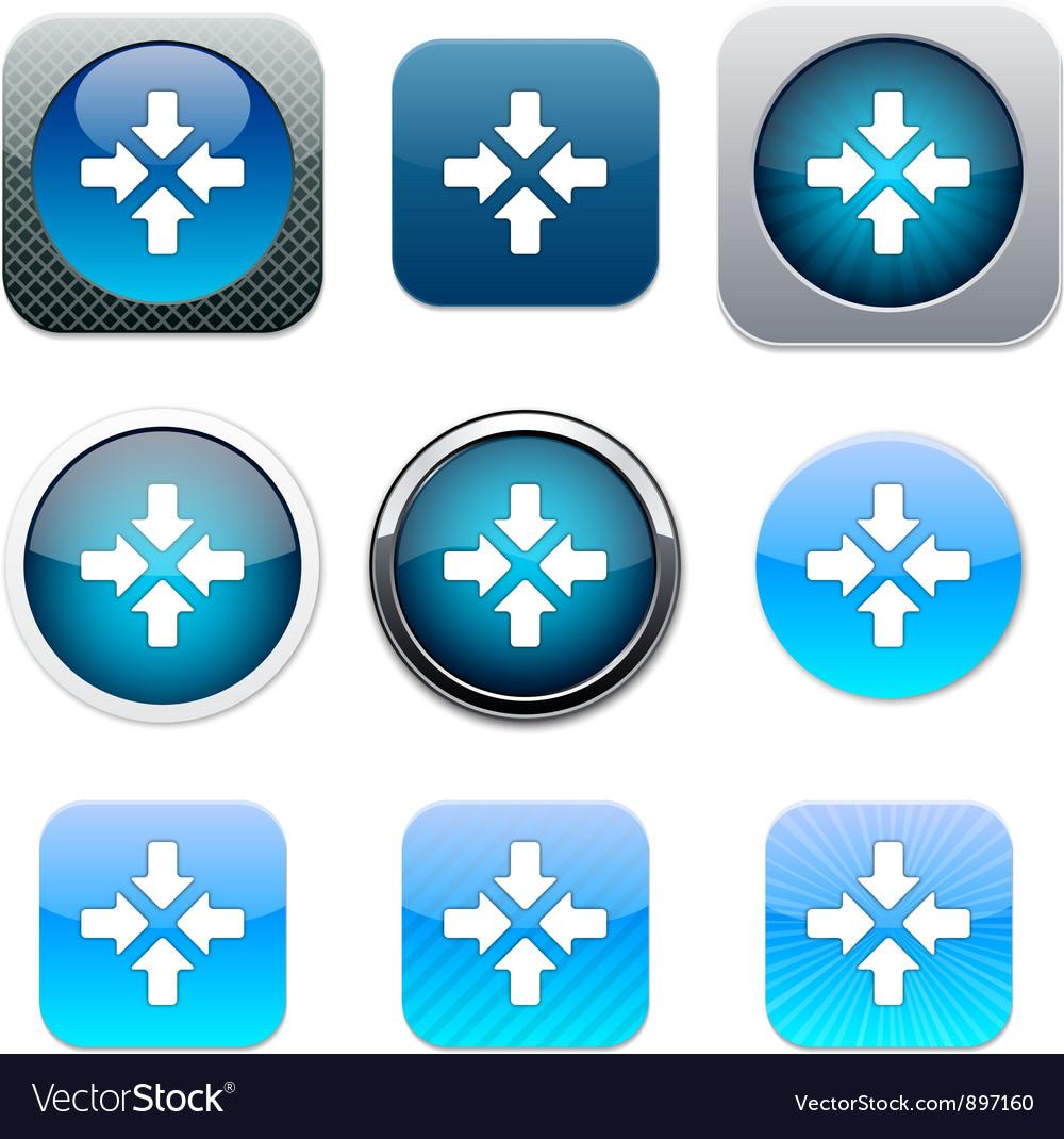 Click here blue app icons vector | Price: 1 Credit (USD $1)