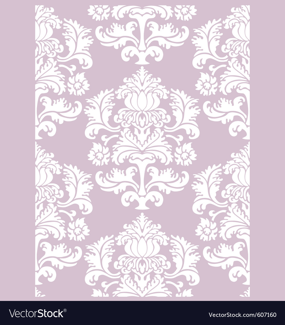 Damask floral wallpaper vector   Price: 1 Credit (USD $1)
