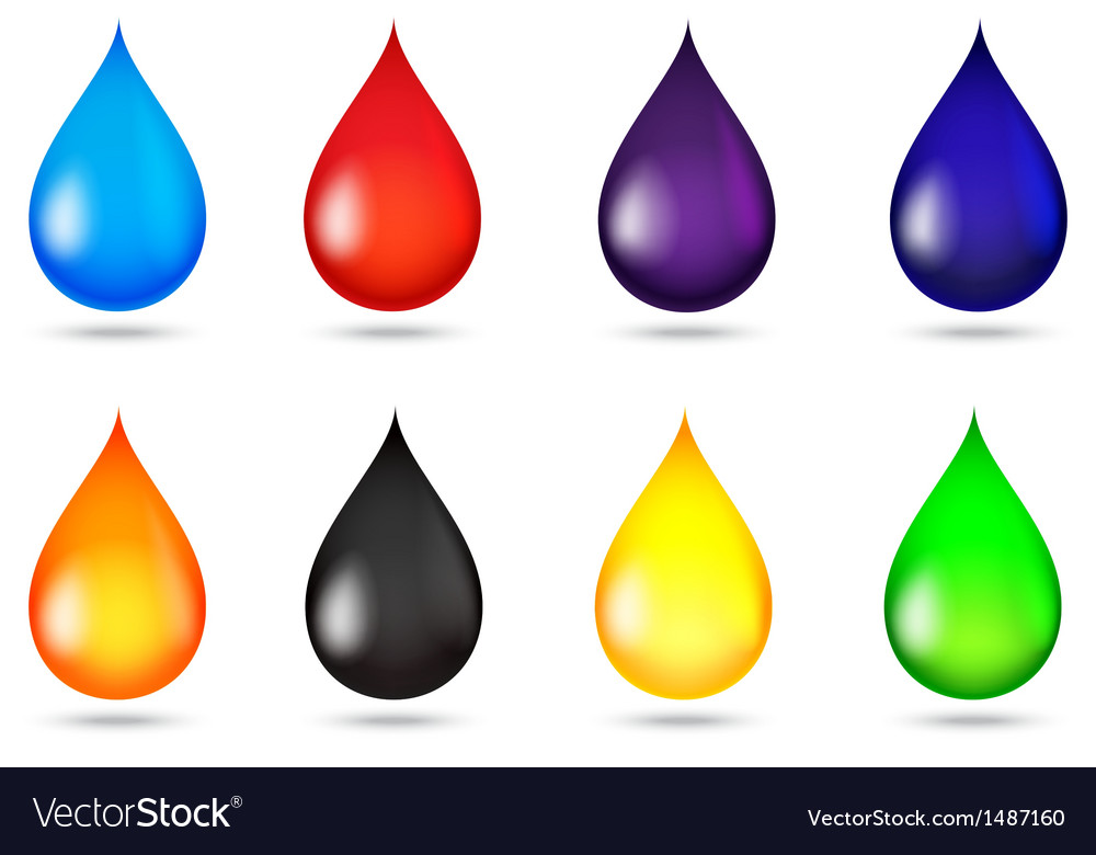 Drop of liquid collection set vector | Price: 1 Credit (USD $1)