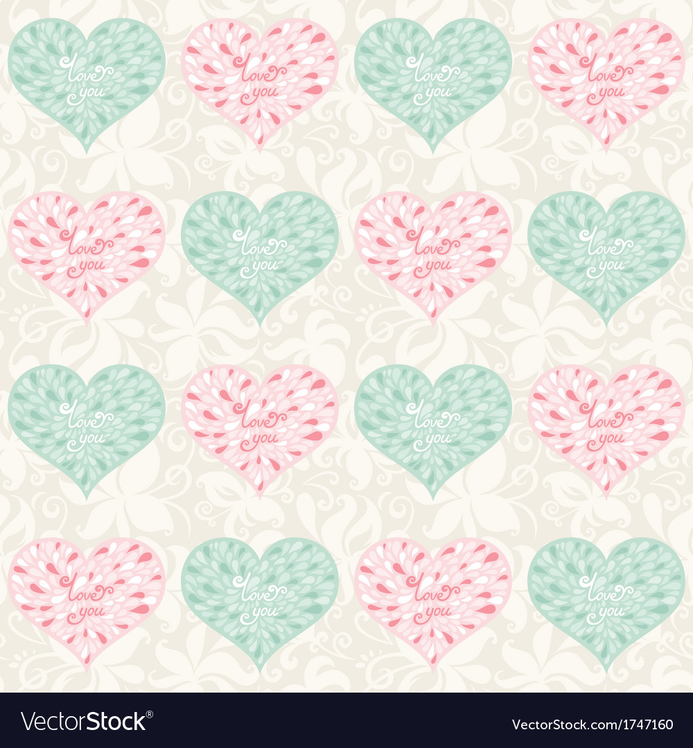 Love pattern vector | Price: 1 Credit (USD $1)