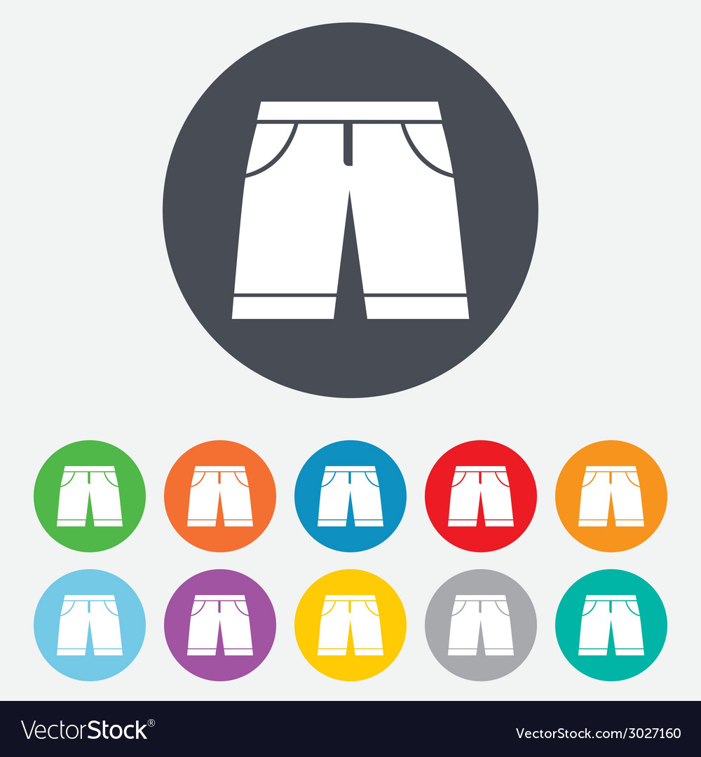 Mens bermuda shorts sign icon clothing symbol vector | Price: 1 Credit (USD $1)