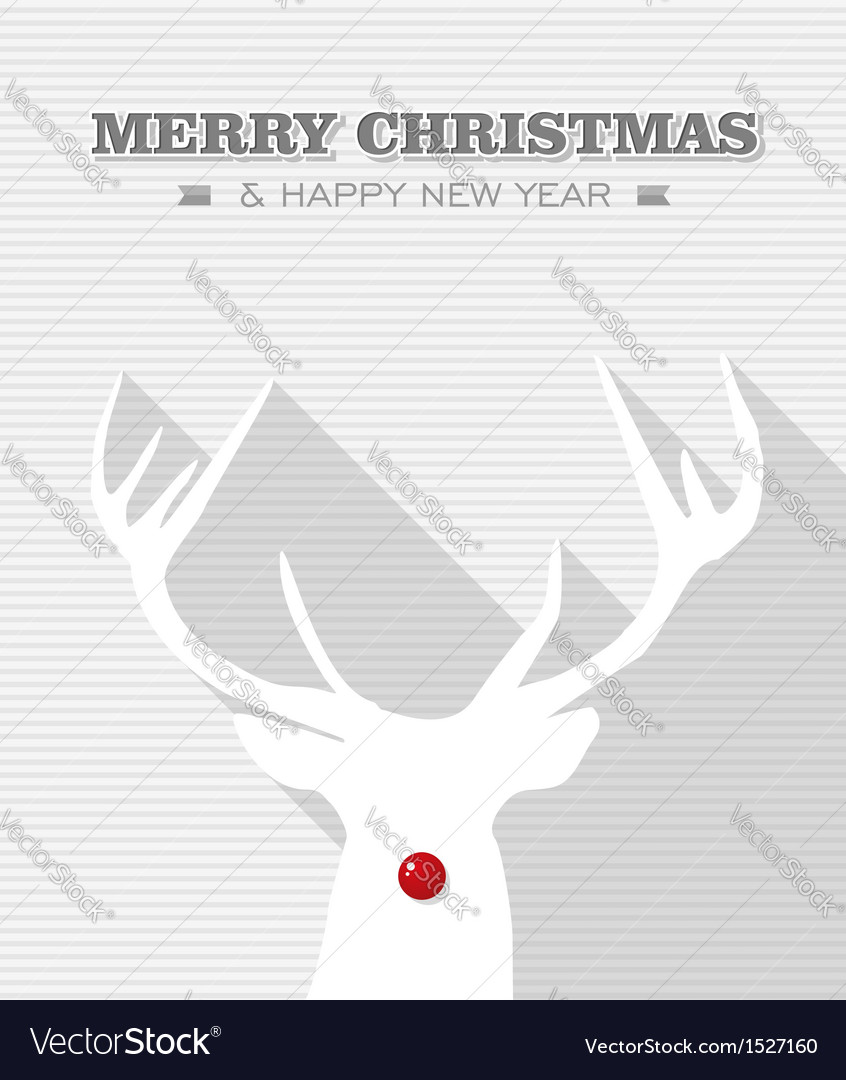 Merry christmas red dot white rudolph reindeer vector | Price: 1 Credit (USD $1)