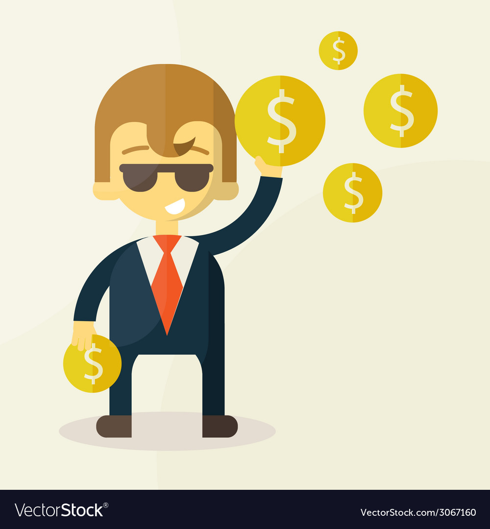 Money and man vector | Price: 1 Credit (USD $1)