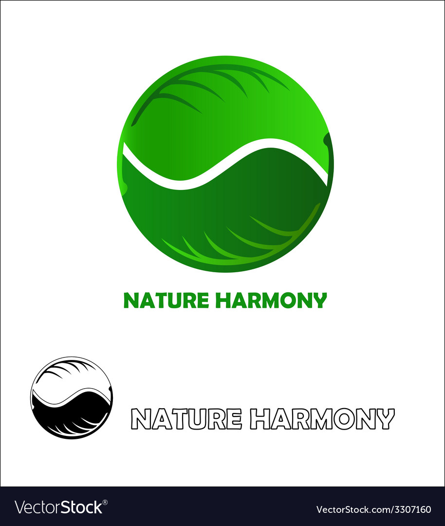 Nature harmony logo design template vector | Price: 1 Credit (USD $1)