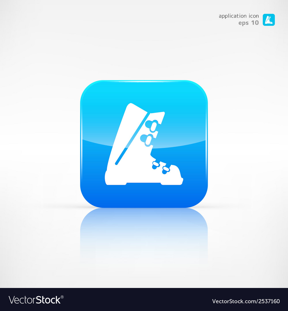 Ski shoes web icon vector | Price: 1 Credit (USD $1)