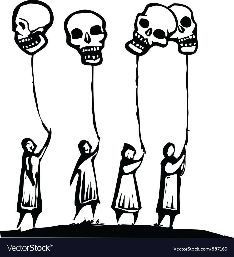 Skull balloons vector | Price: 1 Credit (USD $1)