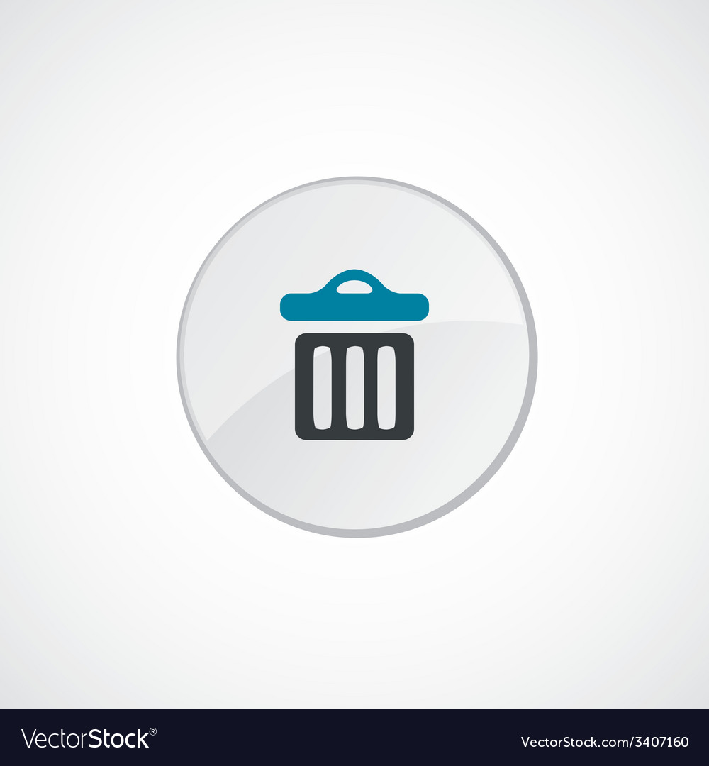 Trash bin icon 2 colored vector