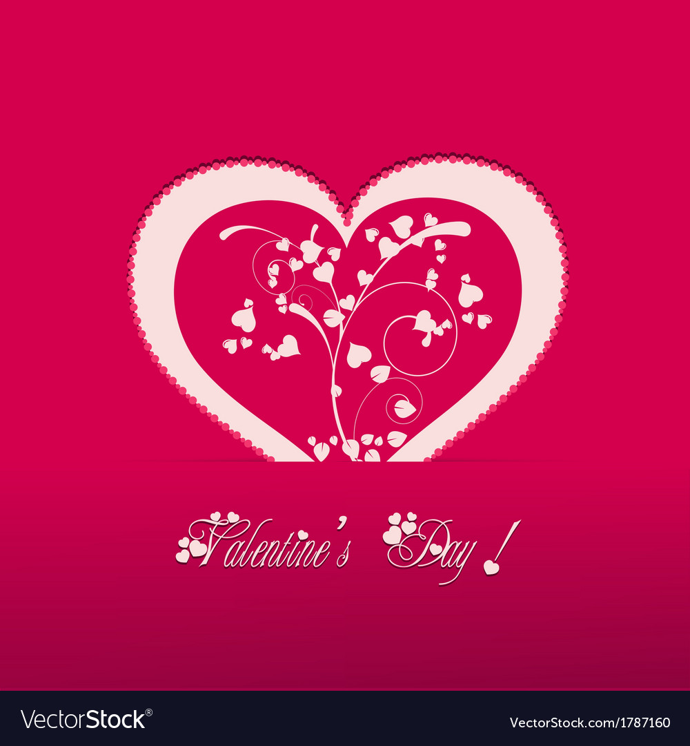 Valentine heart pink background vector | Price: 1 Credit (USD $1)