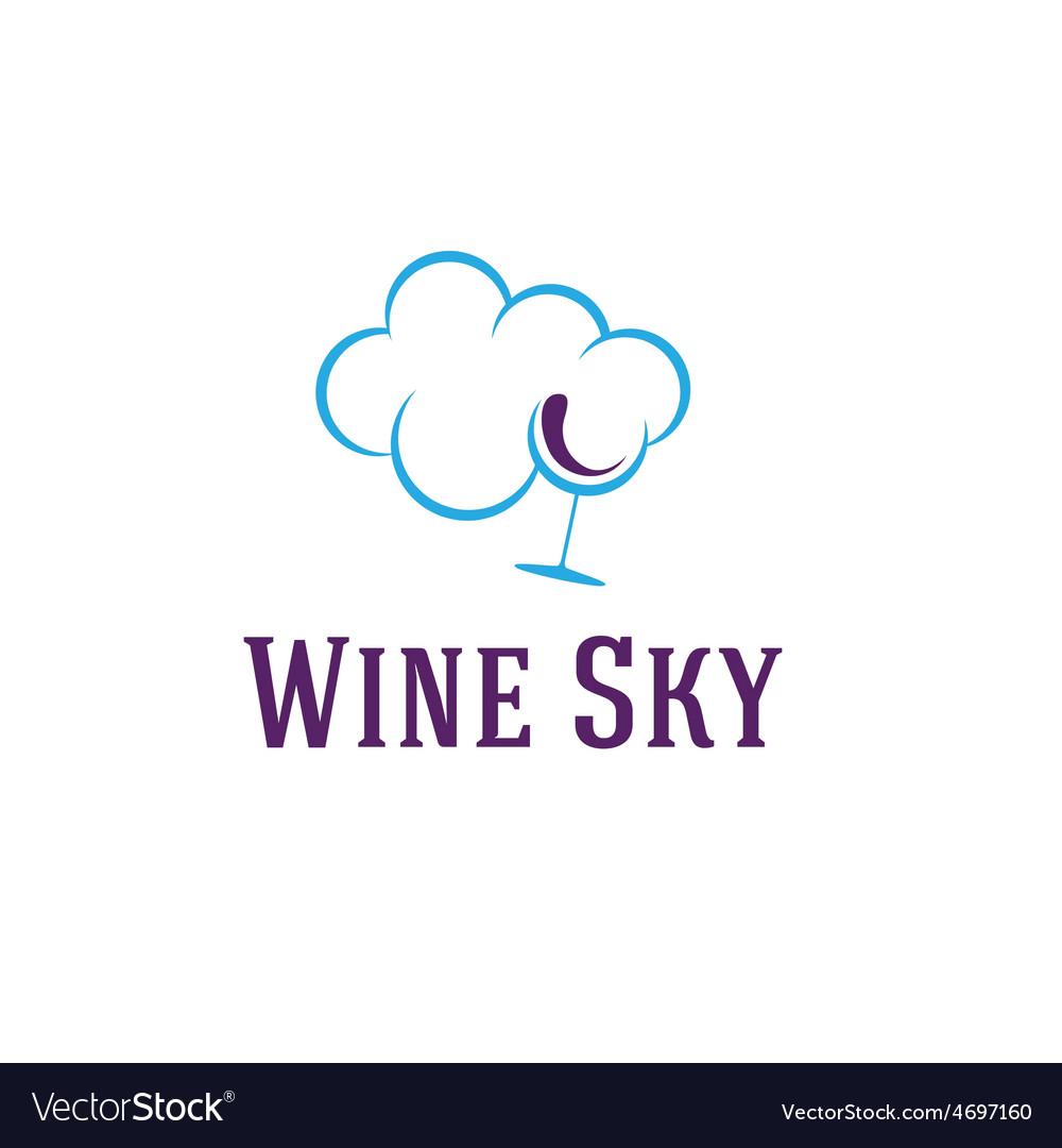 Wine sky vector | Price: 1 Credit (USD $1)