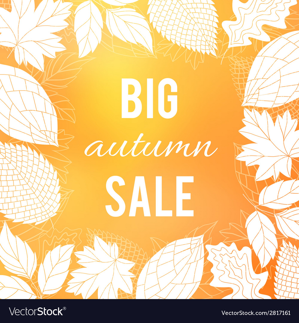 Autumn sale poster vector | Price: 1 Credit (USD $1)