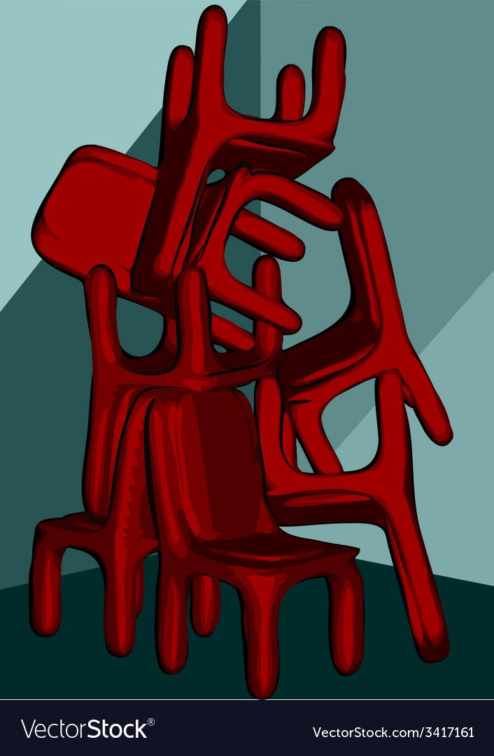 Chairs pile vector | Price: 1 Credit (USD $1)
