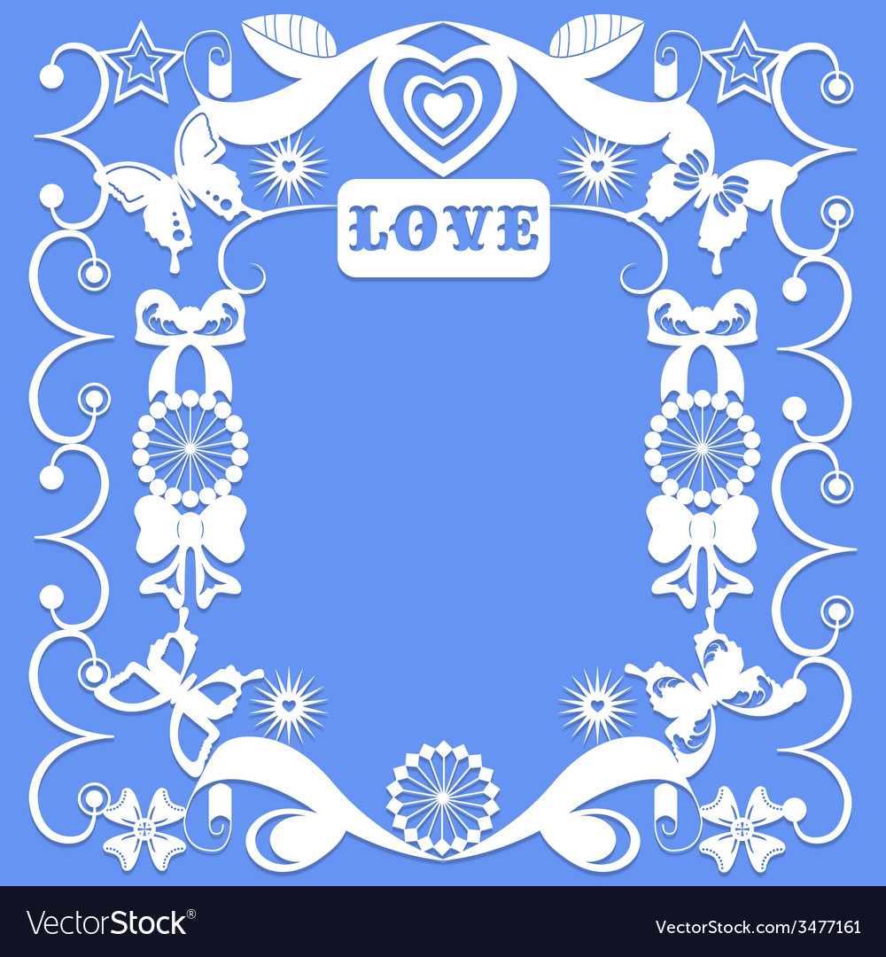 Decorative elements in the style of carving paper vector | Price: 1 Credit (USD $1)