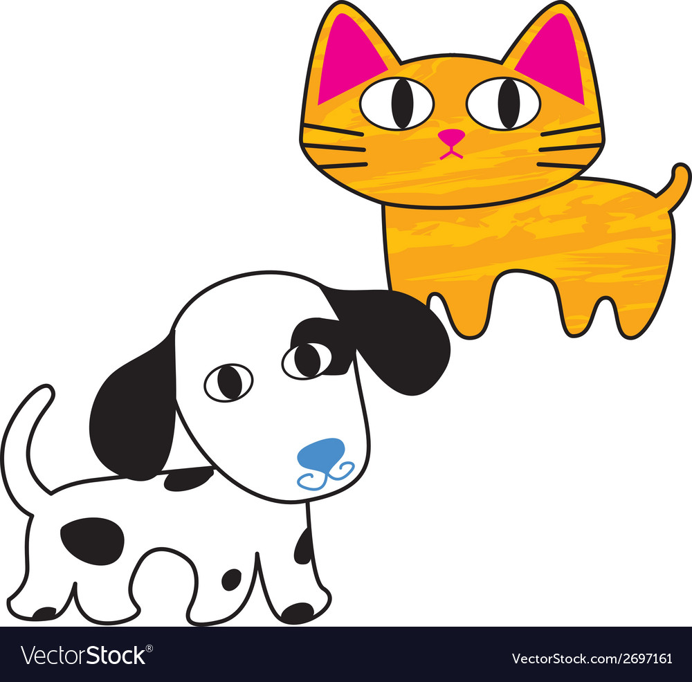 Dog and cat vector | Price: 1 Credit (USD $1)