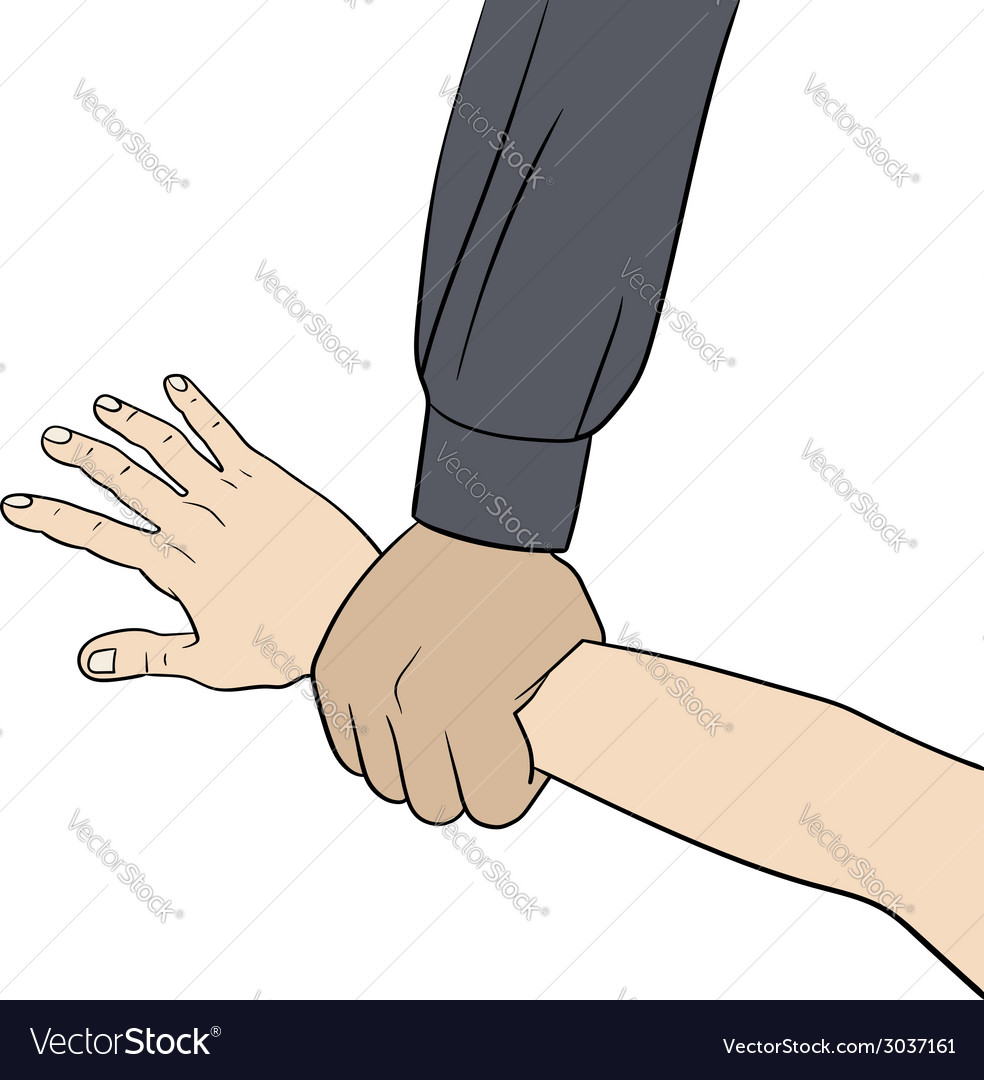 Grab hand elemment vector | Price: 1 Credit (USD $1)