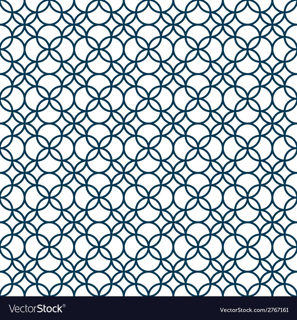 Monochrome seamless geometric pattern vector | Price: 1 Credit (USD $1)