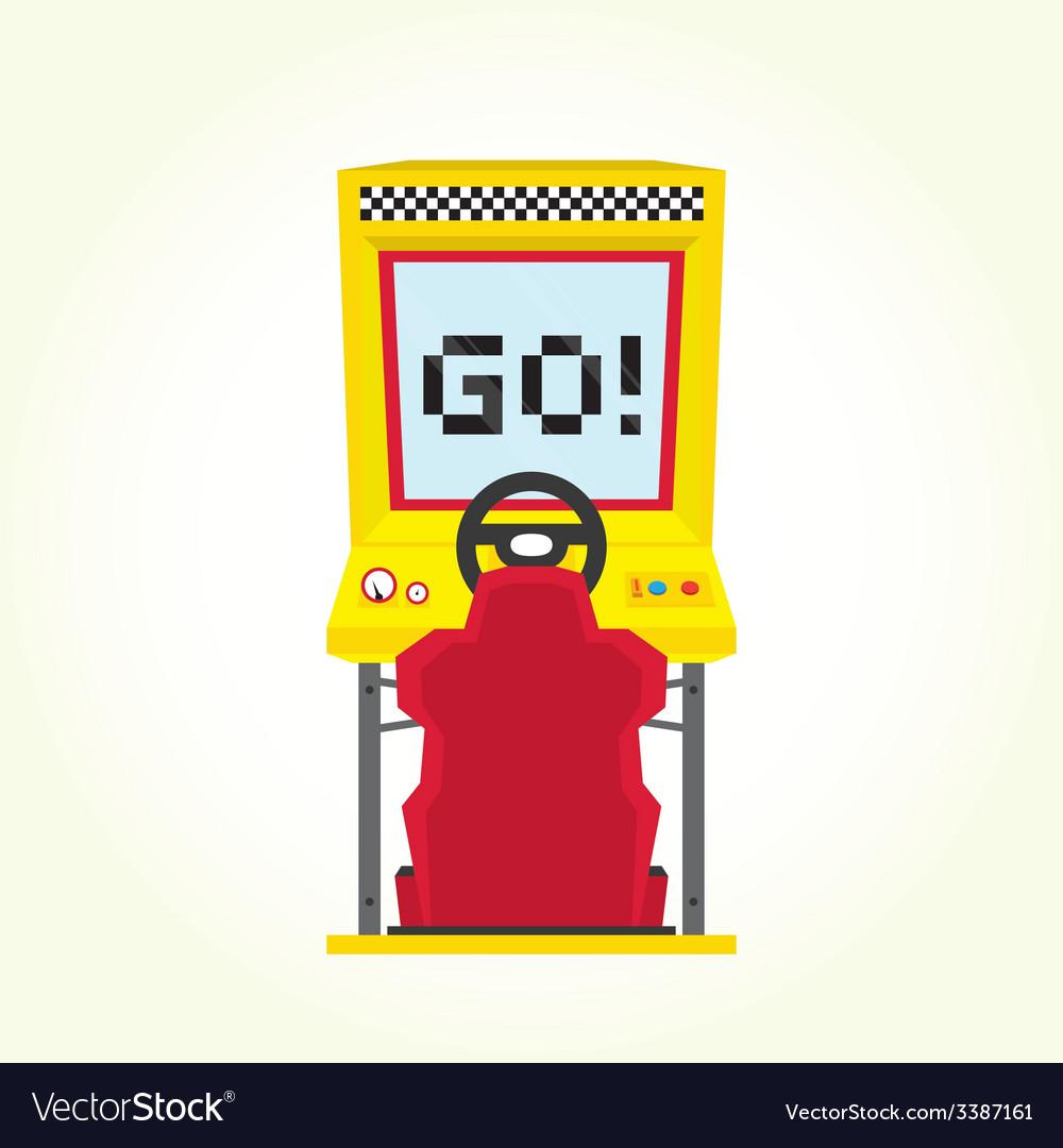 Racing game arcade machine vector | Price: 1 Credit (USD $1)