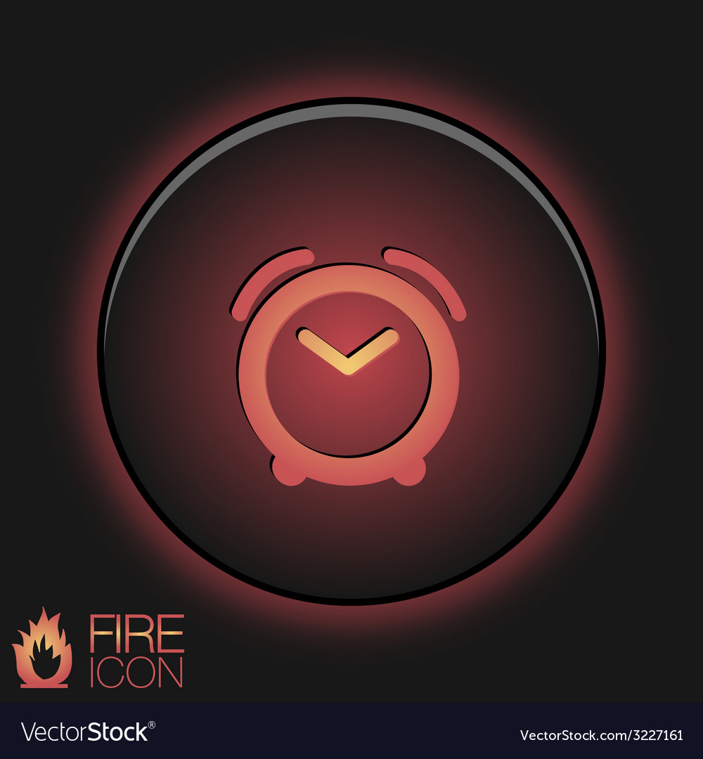 Symbol morning alarm icon the clock shows the vector | Price: 1 Credit (USD $1)