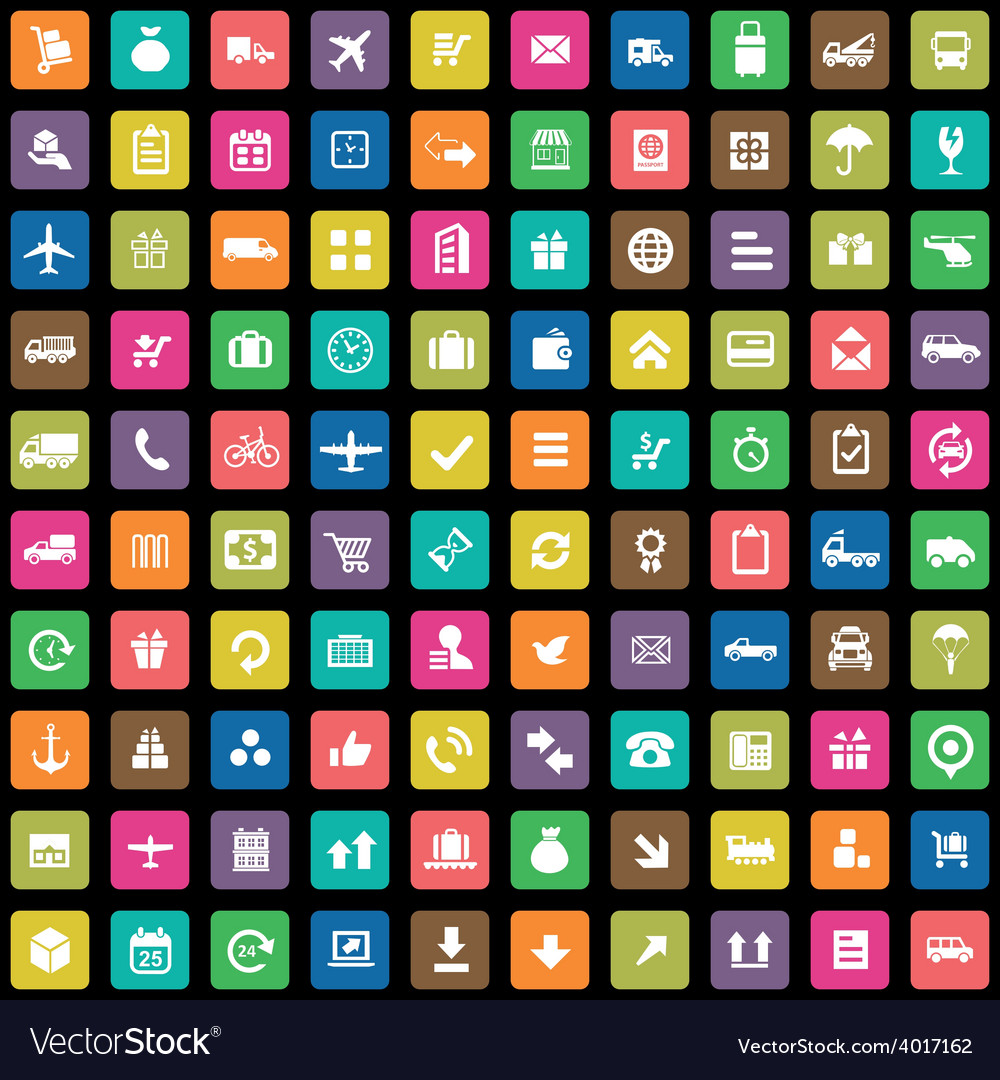 100 delivery icons vector | Price: 1 Credit (USD $1)