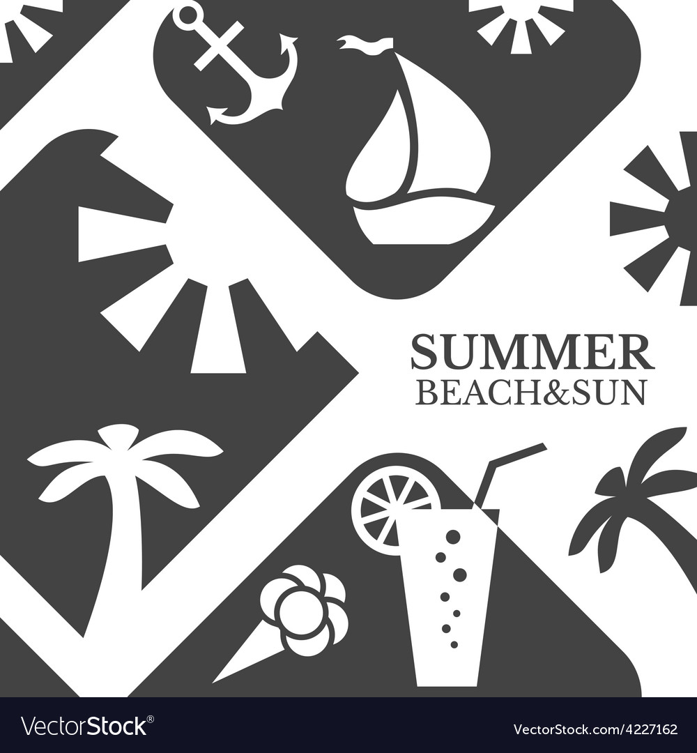 Abstract summer menu  beach vector | Price: 1 Credit (USD $1)