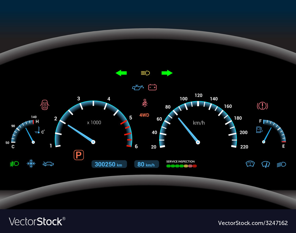 Car dashboard background vector | Price: 1 Credit (USD $1)