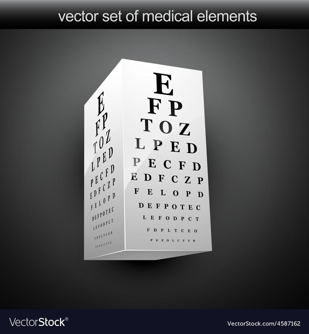 Eye chart vector   Price: 1 Credit (USD $1)