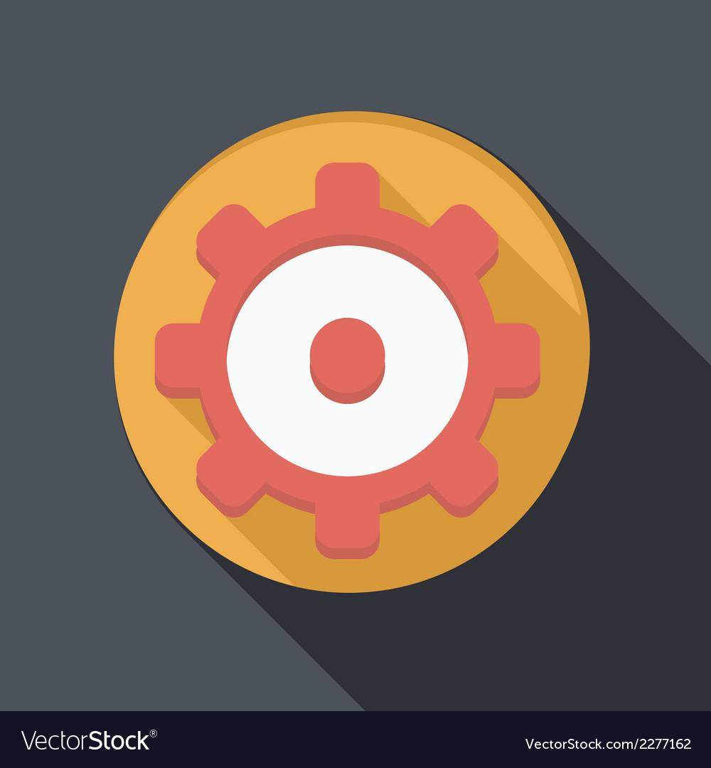 Flat icon with a shadow symbol settings vector | Price: 1 Credit (USD $1)