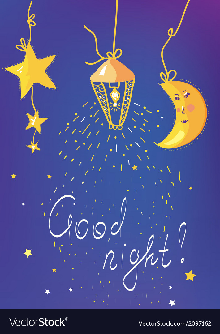 Good night banner and card vector | Price: 1 Credit (USD $1)