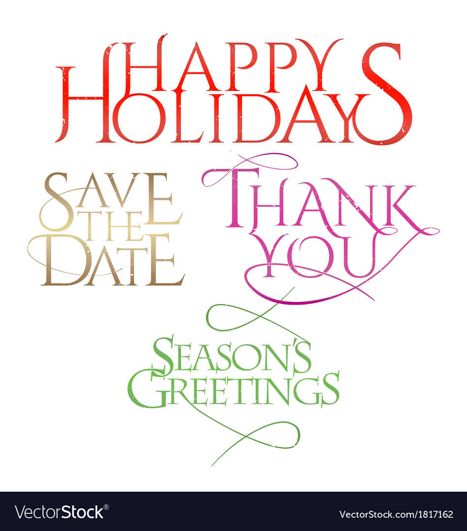 Holiday letterings vector | Price: 1 Credit (USD $1)