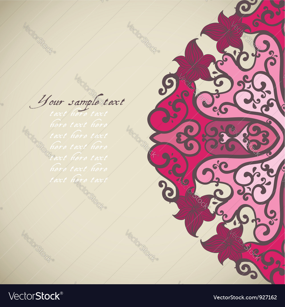 Ornamental round lace in fantasy style vector | Price: 1 Credit (USD $1)