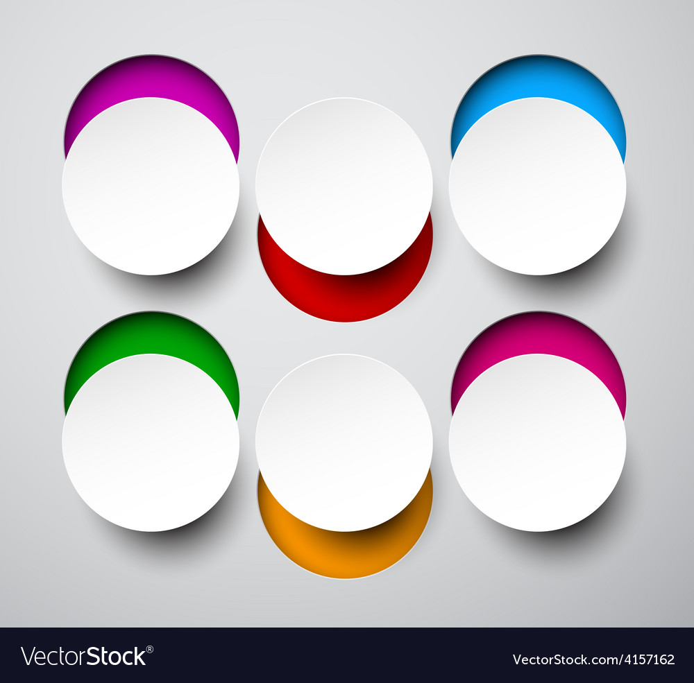 Paper white round notes vector | Price: 1 Credit (USD $1)