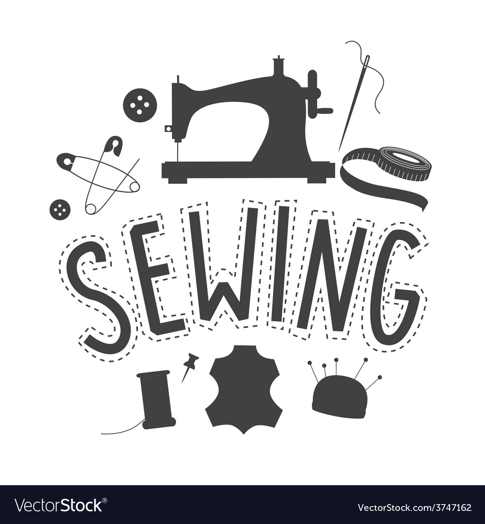 Sewing embleme design vector | Price: 1 Credit (USD $1)